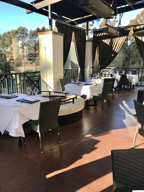 Truluck's LaJolla outdoor terrace dining space