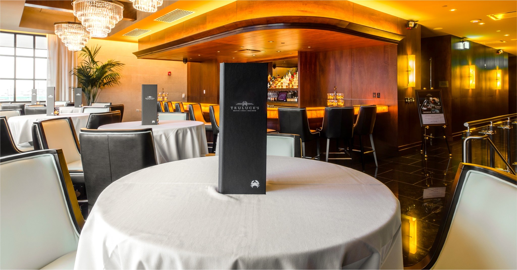 Truluck's Rosemont Rose Lounge Private Dining Space