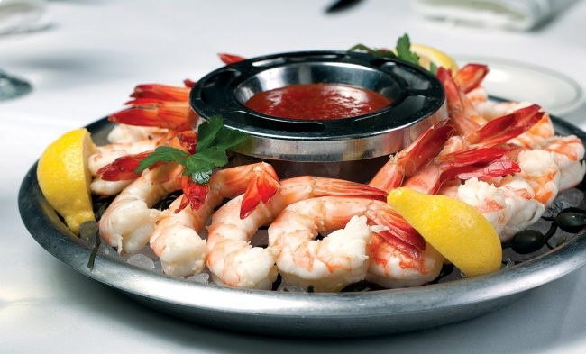 picture of Private dining cocktail shrimp platter with cocktail sauce