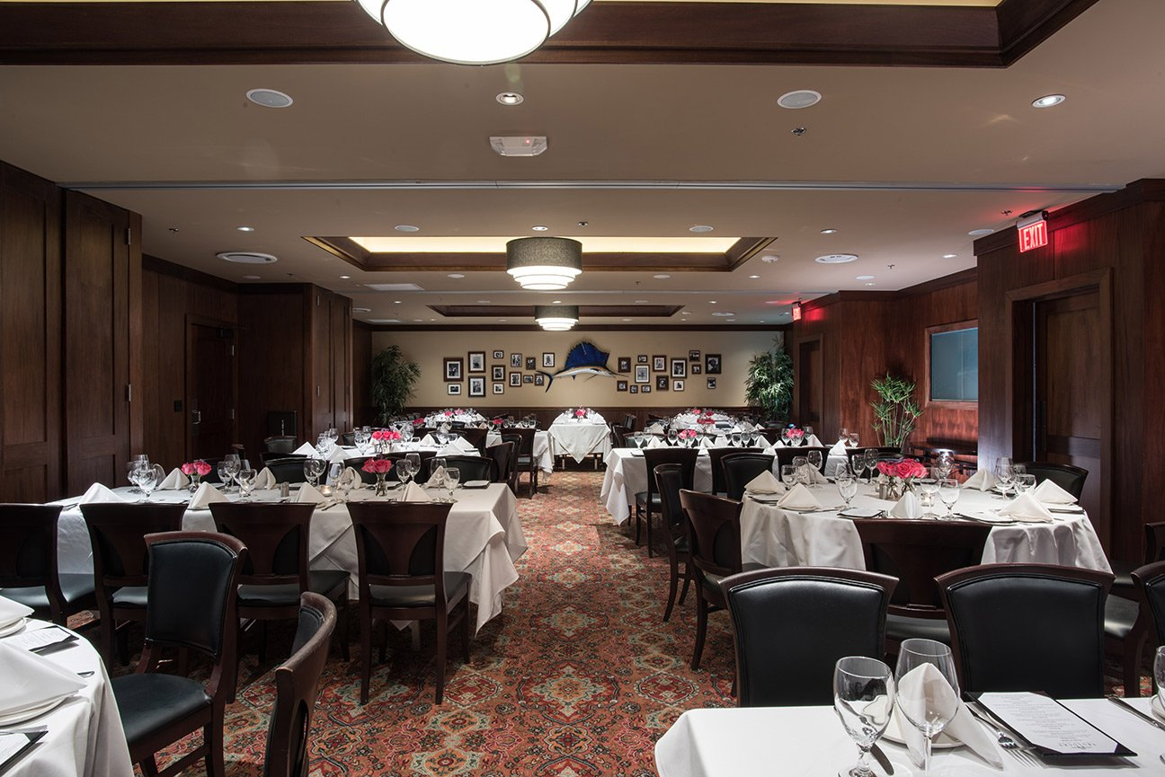 Truluck's Dallas private dining room Naples 1, 2 and 3