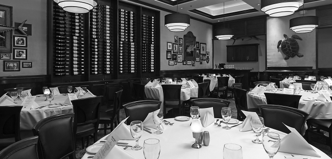 Beautiful shot of our Naples room in our Houston location