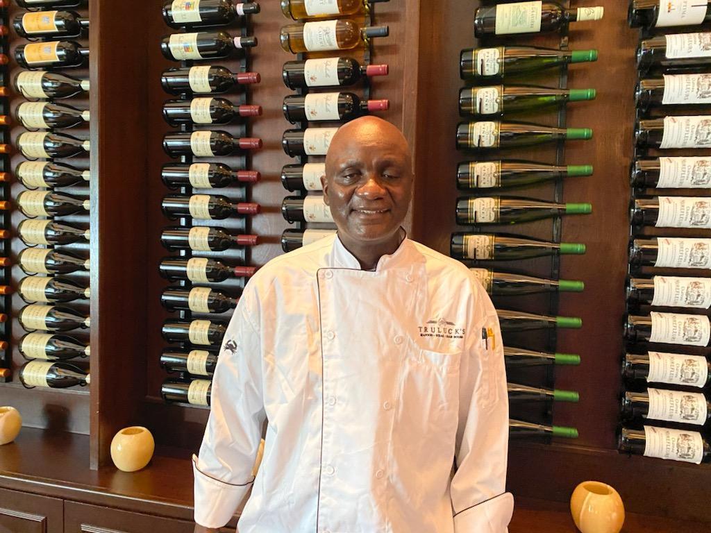 Chef Johnson Olawunmi at Truluck's Houston