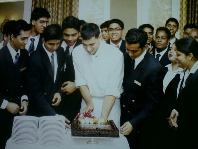 Yohan Vajifdar at his internship with Taj Mahal