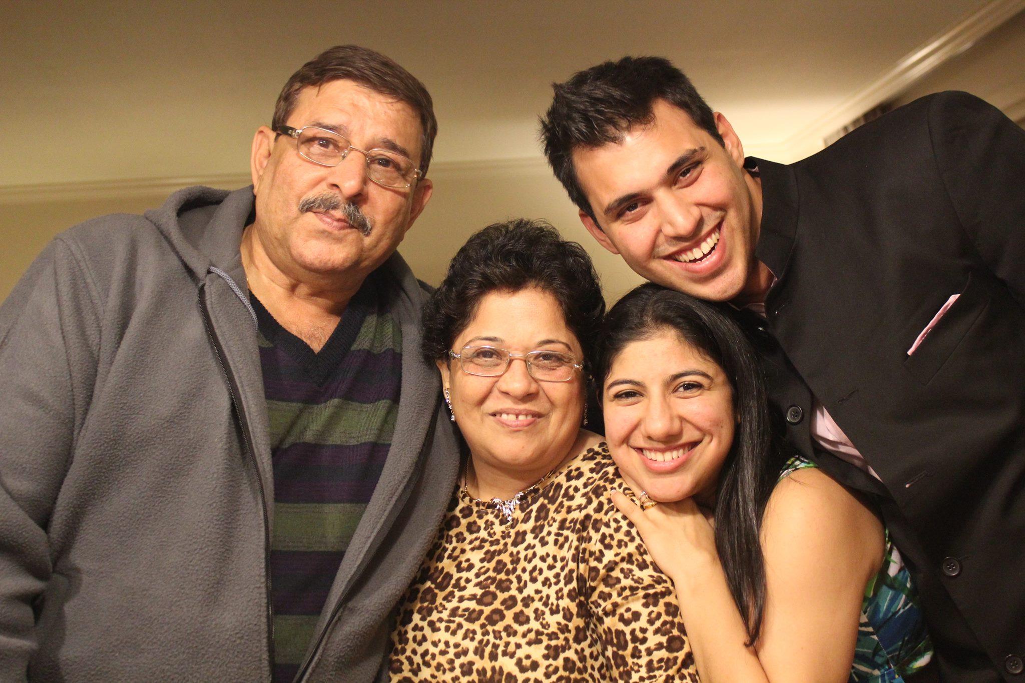 Yohan and Jasmine Vajifdar with Jasmine's parents