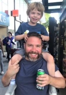 picture of Bond Davis and his nephew