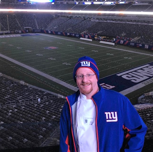 picture of Chef Laurence Cohen at a New York Giants game