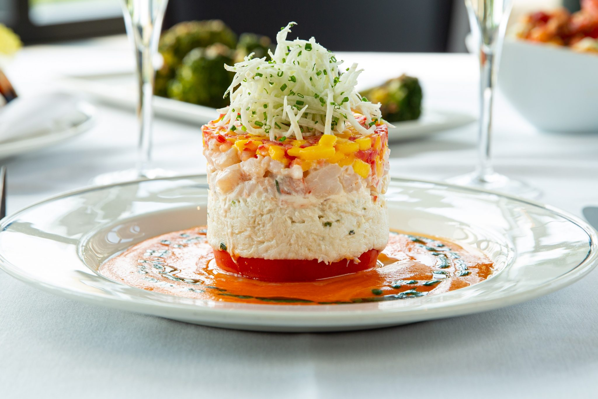 picture of the crab and shrimp Napoleon