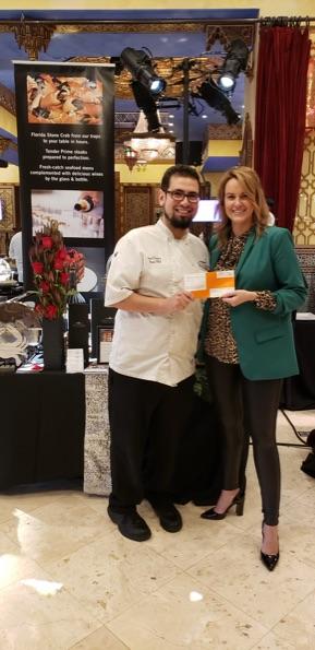 picture of Chef Jose Orozco and special event coordinator Cassandra Mazur