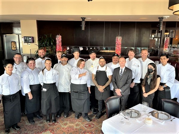 Chef Michael Cerny with the Austin downtown staff